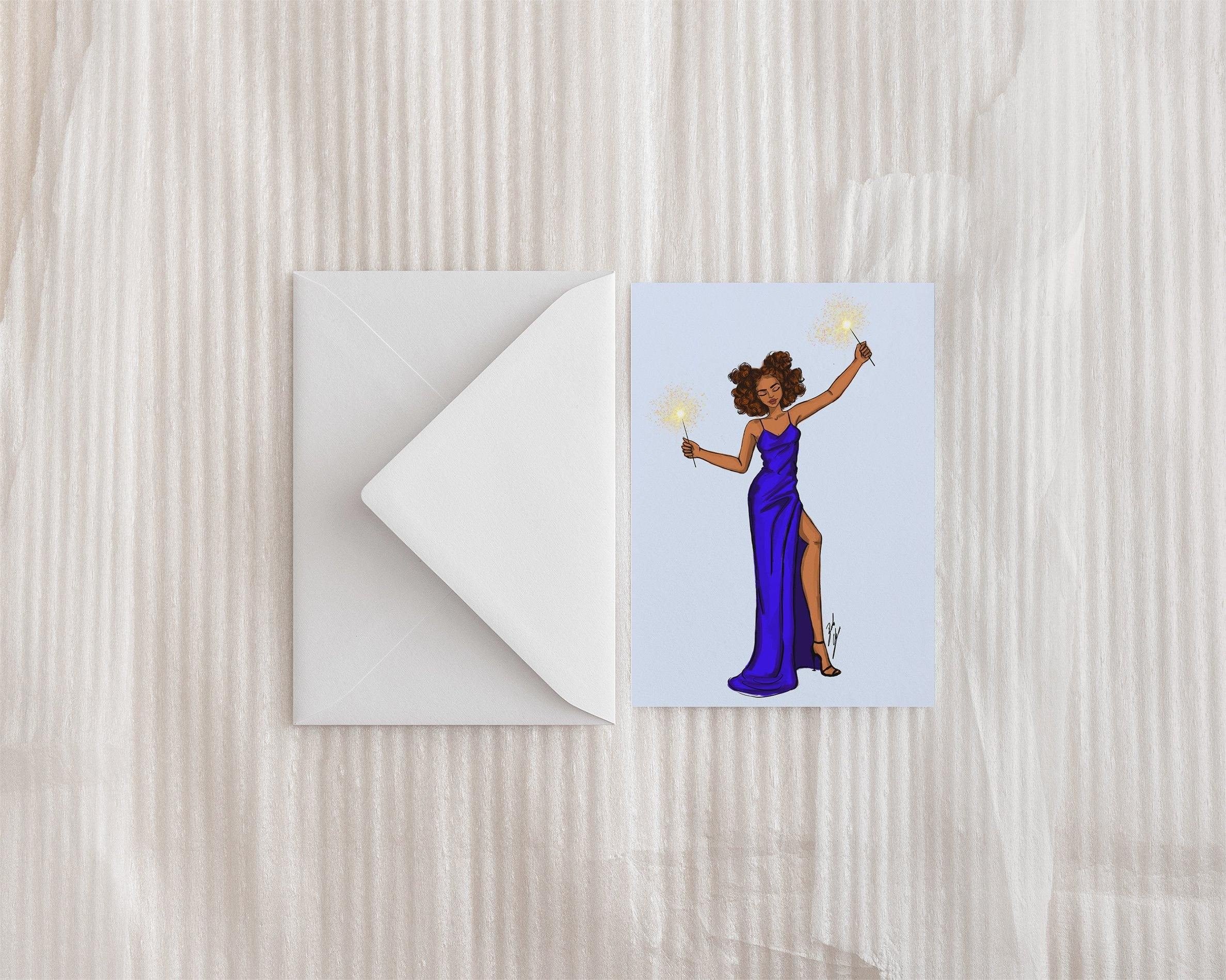 """New Year Celebration"" Greeting Card - Brooke Ashley Collection"