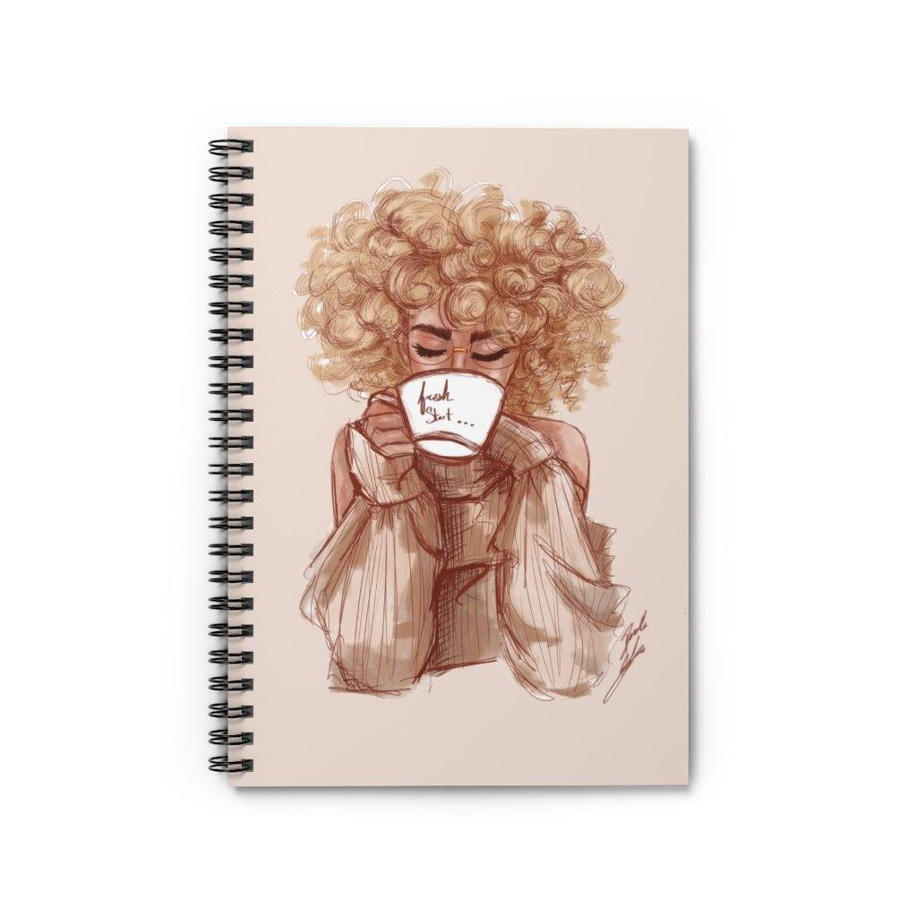 """A Fresh Start"" Spiral Notebook - Brooke Ashley Collection"
