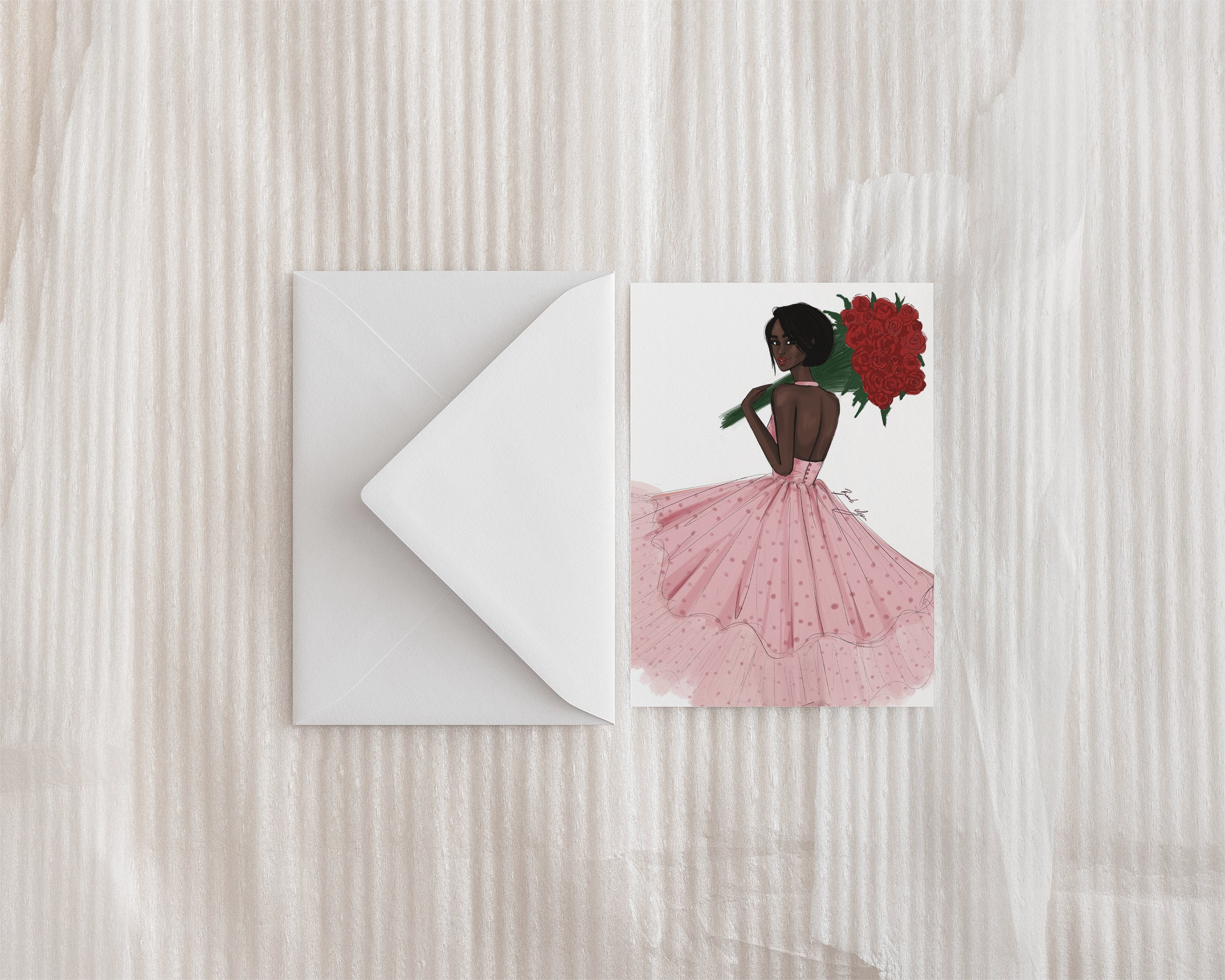 """Fresh Roses"" Greeting Card"