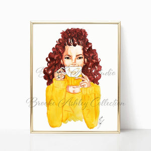 "brooke-ashley-collection-bac-art-studio - ""Happy Mug"" Art Print -  - Brooke Ashley Collection BAC Art Studio"