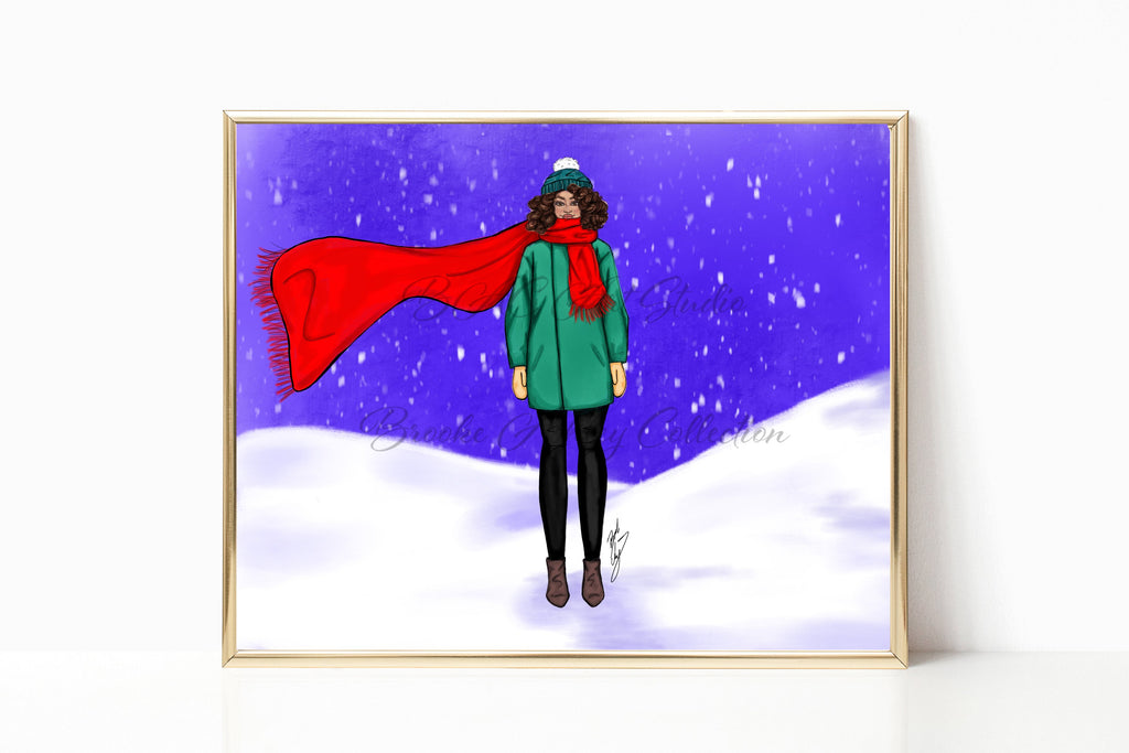 """Let it Snow"" Art Print - Brooke Ashley Collection"