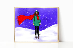 """Let it Snow"" Art Print"