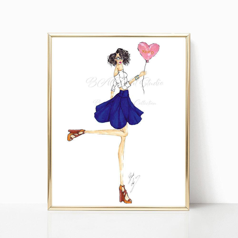 "brooke-ashley-collection-bac-art-studio - ""Hugs & Kisses"" Art Print -  - Brooke Ashley Collection BAC Art Studio"