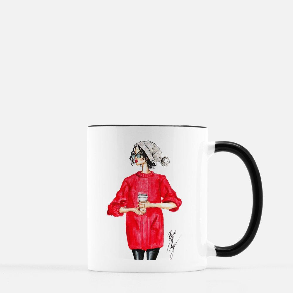 "brooke-ashley-collection-bac-art-studio - ""December"" Coffee Mug -  - Brooke Ashley Collection BAC Art Studio"