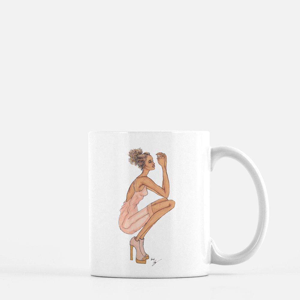 "brooke-ashley-collection-bac-art-studio - ""Lady in Blush"" Coffee Mug -  - Brooke Ashley Collection BAC Art Studio"