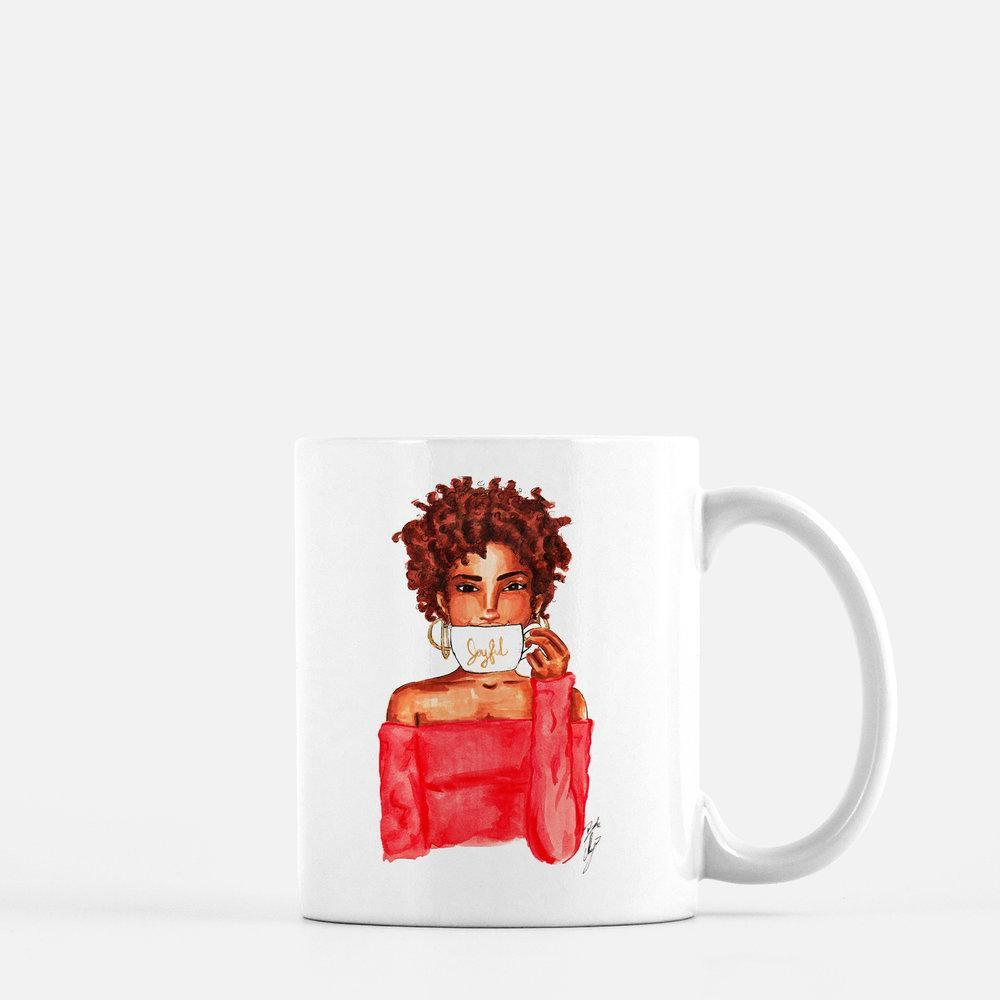 "brooke-ashley-collection-bac-art-studio - ""Joyful"" Coffee Mug -  - Brooke Ashley Collection BAC Art Studio"