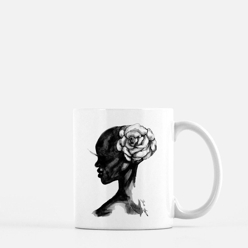 "brooke-ashley-collection-bac-art-studio - ""Wild Flower"" Coffee Mug -  - Brooke Ashley Collection BAC Art Studio"