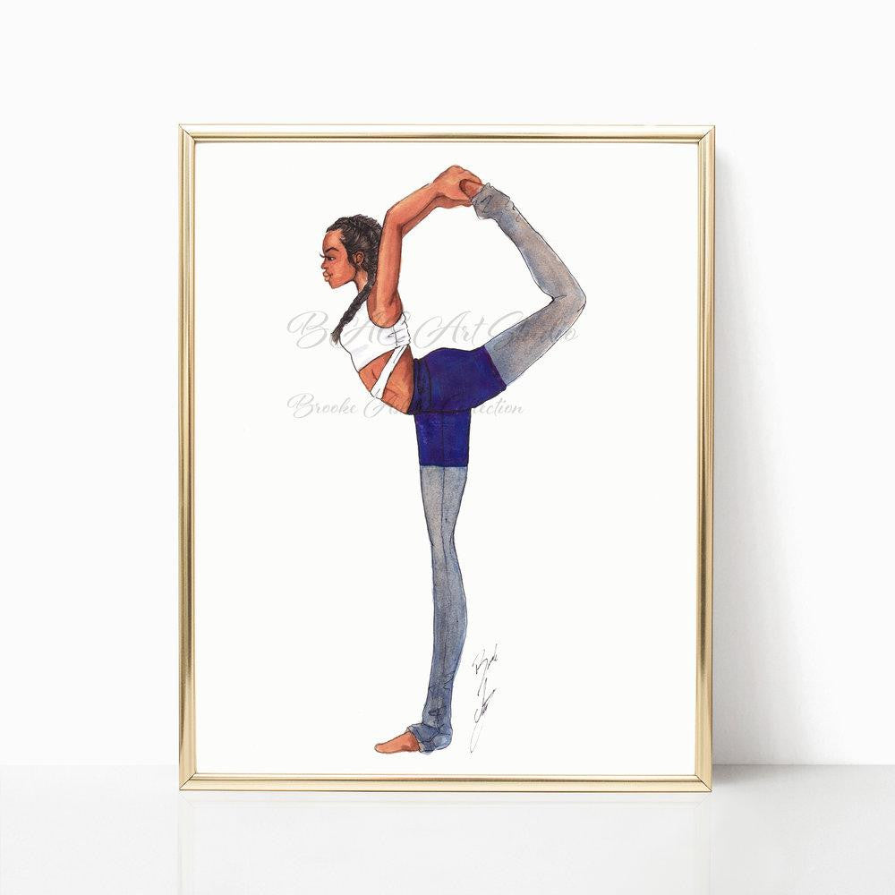 "brooke-ashley-collection-bac-art-studio - ""Yoga Girl"" Art Print -  - Brooke Ashley Collection BAC Art Studio"
