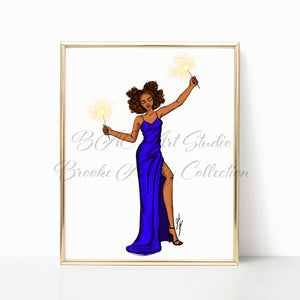 """New Year Celebration"" Art Print"