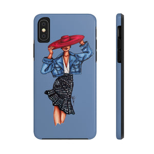 """Lady in the Red Hat"" iPhone Case (Tough)"