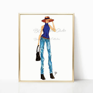 "brooke-ashley-collection-bac-art-studio - ""City Chic"" Art Print -"