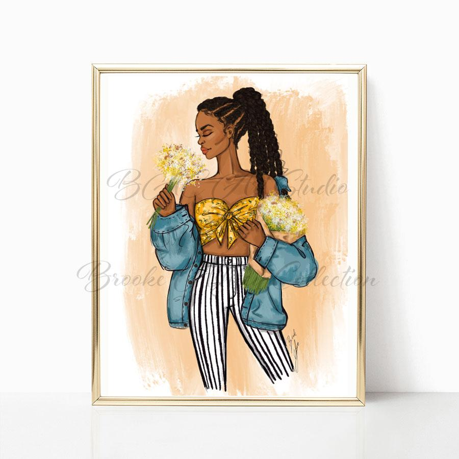 """Daisy"" Art Print - Brooke Ashley Collection"