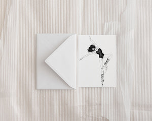 """Dancer"" Greeting Card - Brooke Ashley Collection"