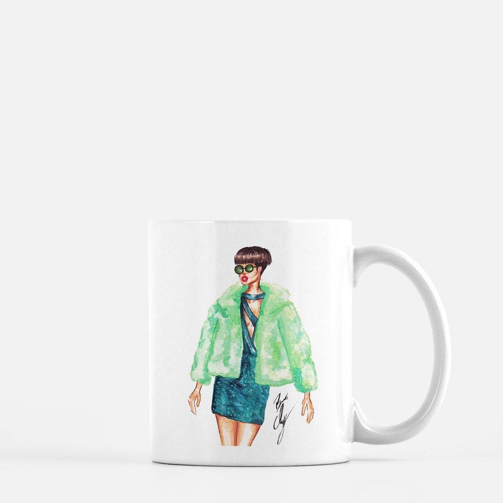 "brooke-ashley-collection-bac-art-studio - ""Emerald"" Coffee Mug -  - Brooke Ashley Collection BAC Art Studio"