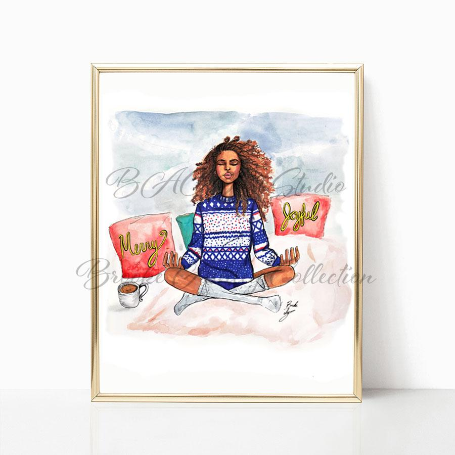 """Holiday Zen"" Art Print - Brooke Ashley Collection"