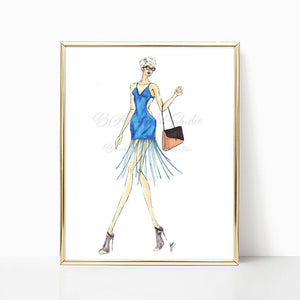 "brooke-ashley-collection-bac-art-studio - ""Lady in Fringe"" Art Print -  - Brooke Ashley Collection BAC Art Studio"