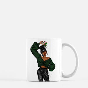 """Mistletoe"" Coffee Mug - Brooke Ashley Collection"