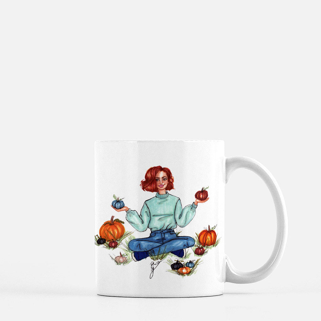 "brooke-ashley-collection-bac-art-studio - ""Pumpkin Picking"" Coffee Mug -  - Brooke Ashley Collection BAC Art Studio"