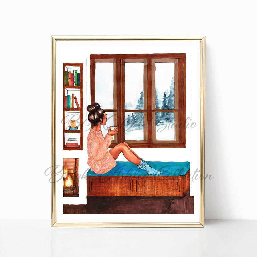 "brooke-ashley-collection-bac-art-studio - ""Snowed In"" Art Print -  - Brooke Ashley Collection BAC Art Studio"