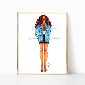"brooke-ashley-collection-bac-art-studio - ""Summertime Denim"" Art Print -  - Brooke Ashley Collection BAC Art Studio"
