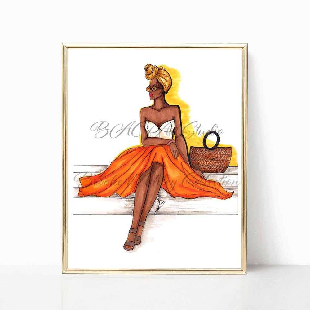 "brooke-ashley-collection-bac-art-studio - ""Summer Glow"" Art Print -  - Brooke Ashley Collection BAC Art Studio"
