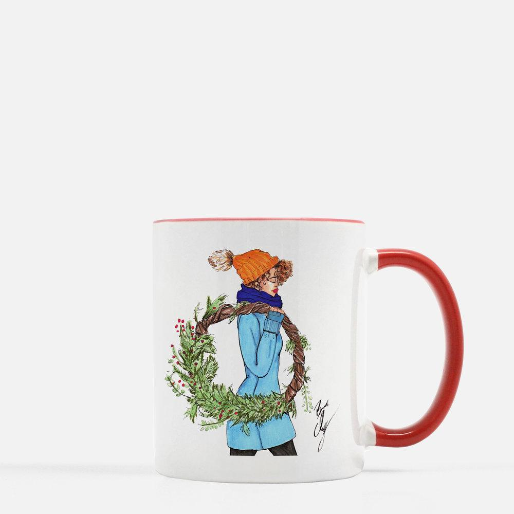 "brooke-ashley-collection-bac-art-studio - ""Deck the Halls"" Coffee Mug -  - Brooke Ashley Collection BAC Art Studio"