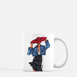 """Girl in the Red Hat"" Coffee Mugs"