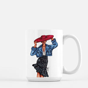 """Girl in the Red Hat"" Coffee Mugs - Brooke Ashley Collection"