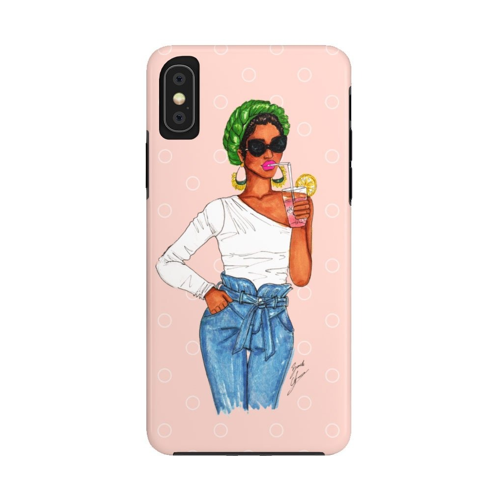 """Pink Lemonade"" iPhone Case (Tough) - Brooke Ashley Collection"