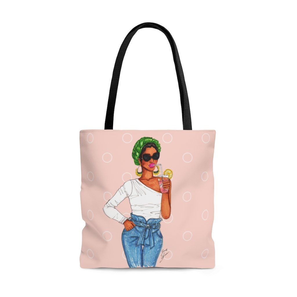 """Pink Lemonade"" Tote Bag - Brooke Ashley Collection"