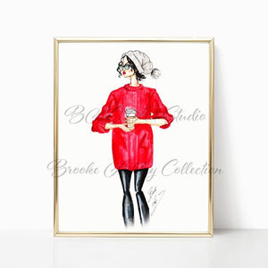"brooke-ashley-collection-bac-art-studio - ""December"" Art Print -"