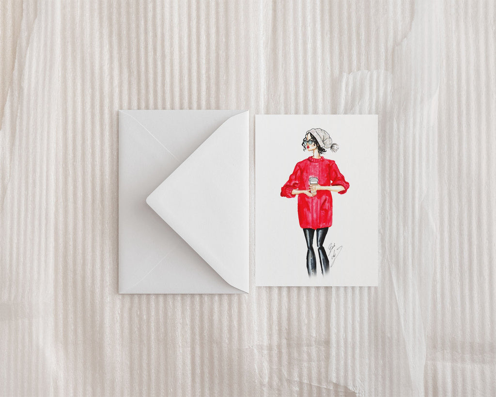 """December"" Greeting Card - Brooke Ashley Collection"