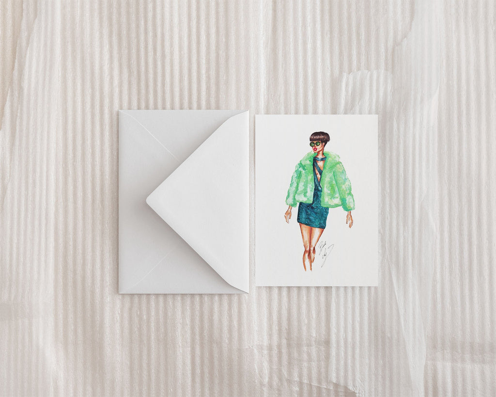 """Emerald"" Greeting Card - Brooke Ashley Collection"