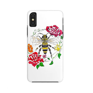 "brooke-ashley-collection-bac-art-studio - ""Honey Bee (Color)."" iPhone Case (Tough) -  - Brooke Ashley Collection BAC Art Studio"