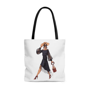 "brooke-ashley-collection-bac-art-studio - ""Lady in Black"" Tote Bag -  - Brooke Ashley Collection BAC Art Studio"