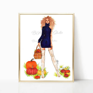 "brooke-ashley-collection-bac-art-studio - ""Pumpkin Patch"" Art Print -  - Brooke Ashley Collection BAC Art Studio"