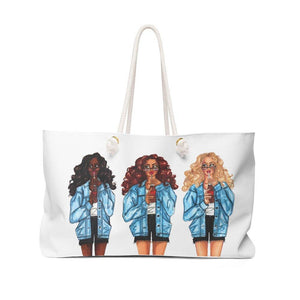 "brooke-ashley-collection-bac-art-studio - ""Summer Denim Social"" Weekender Bag -"