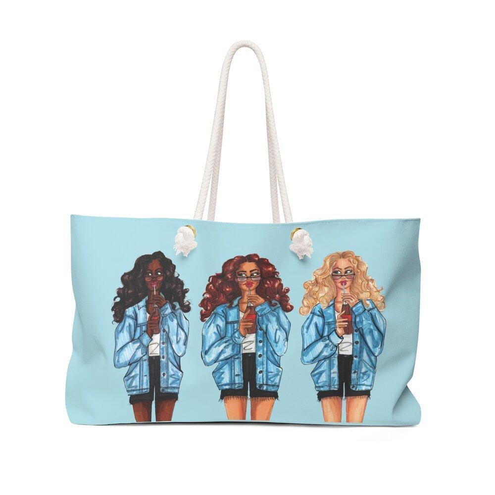 "brooke-ashley-collection-bac-art-studio - ""Summer Denim Social"" Weekender Bag -  - Brooke Ashley Collection BAC Art Studio"