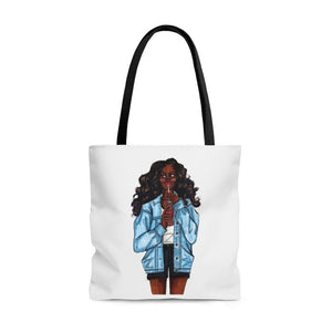 "brooke-ashley-collection-bac-art-studio - ""Summer Denim"" Tote Bag -  - Brooke Ashley Collection BAC Art Studio"