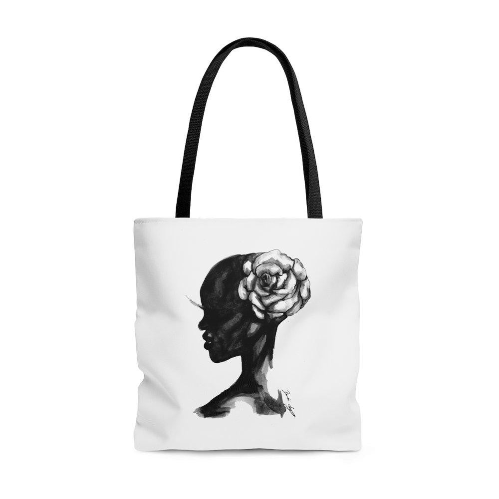 "brooke-ashley-collection-bac-art-studio - ""Wild Flower"" Tote Bag -  - Brooke Ashley Collection BAC Art Studio"