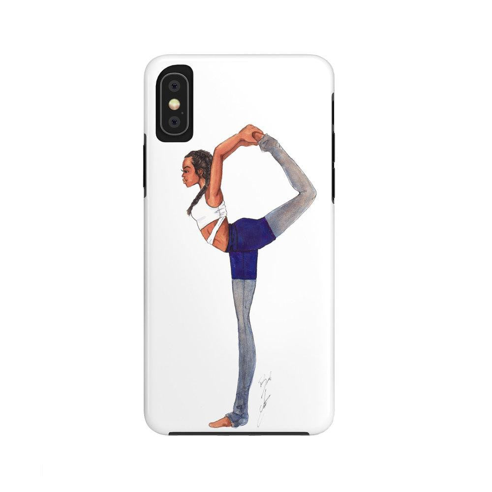 "brooke-ashley-collection-bac-art-studio - ""Yoga Girl"" iPhone Case (Tough) -  - Brooke Ashley Collection BAC Art Studio"