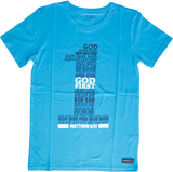 "Turquoise Blue ""God First"" unisex Christian t-shirt"