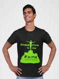 "Black ""Stand firm in the faith"" unisex christian t-Shirt"