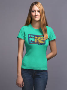 "Flag green ""He must increase I must decrease"" women's christian t-shirt"
