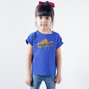 "Blue ""I am his masterpiece"" girls christian t-shirt"