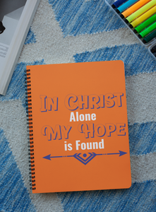"""In Christ alone my hope is found"" Premium Wiro Bound Christian Notebook (A5)"