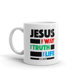 Jesus, The Way, The Truth, The Life - Christian Coffee Mug