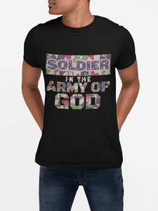 Black 'Soldier in the Army of GOD' unisex christian t-shirt