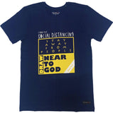 Navy Blue 'Draw near to God - Social Distancing' unisex Christian T-Shirt
