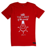 "Scarlet Red ""I am the light of the world"" unisex Christian T-Shirt"
